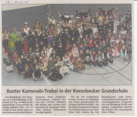 Bunter Karnevalstrubel in der Knesebecker Grundschule