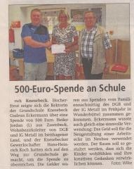 500-Euro-Spende an Schule